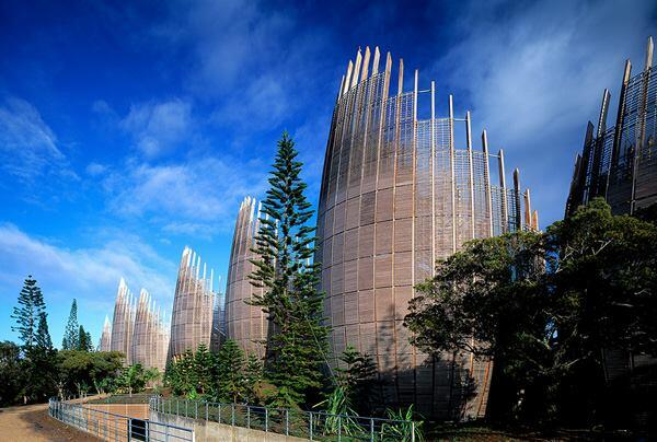 Tjibaou Cultural Center, Noumea New Calidonia, by 2008 AIA Gold Medal winner Renzo Piano, Hon. FAIA, with Renzo Piano Building Workshop.