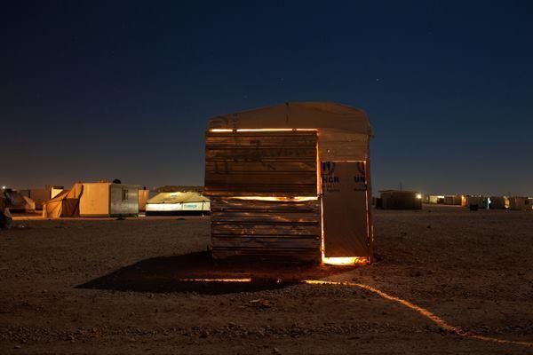 """""""Al Zaatari Store."""" Makeshift metal construction near a Syrian refugee camp in Zaatari, Jordan. 2014 Sony World Photography Awards 1st Place in Greece National Award."""