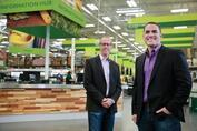 Welcome Home. Friedman's president and CEO Barry Friedman (right), along with merchandise and marketing VP Tony Corsberg, spearheaded the creation of a new store in Petaluma, Calif., where the company began.
