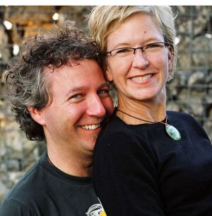 Architect Kelly Mitchell with her business partner and husband, Sean Garman.