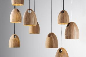 Made of solid FSC-certified timber, Oak is a hand-crafted pendant light from Ross Gardam. An intersecting hole in its body allows the fixture to hang in a variety of configurations. Oak comes in one size—215mm in diameter by 260mm tall—and in three finishes. It uses an 8W CFL globe lamp or an optional LED globe if dimming is desired. rossgardam.com.au