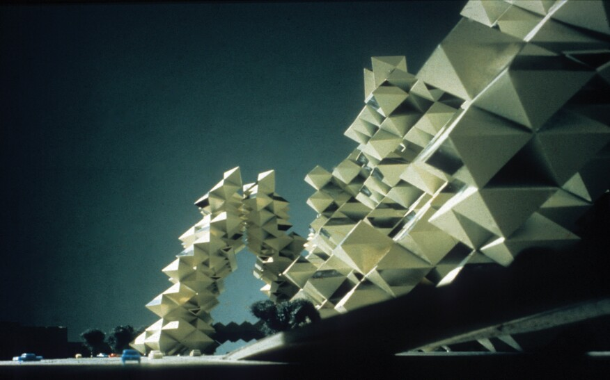 Another model from Safdie's unbuilt Habitat New York project