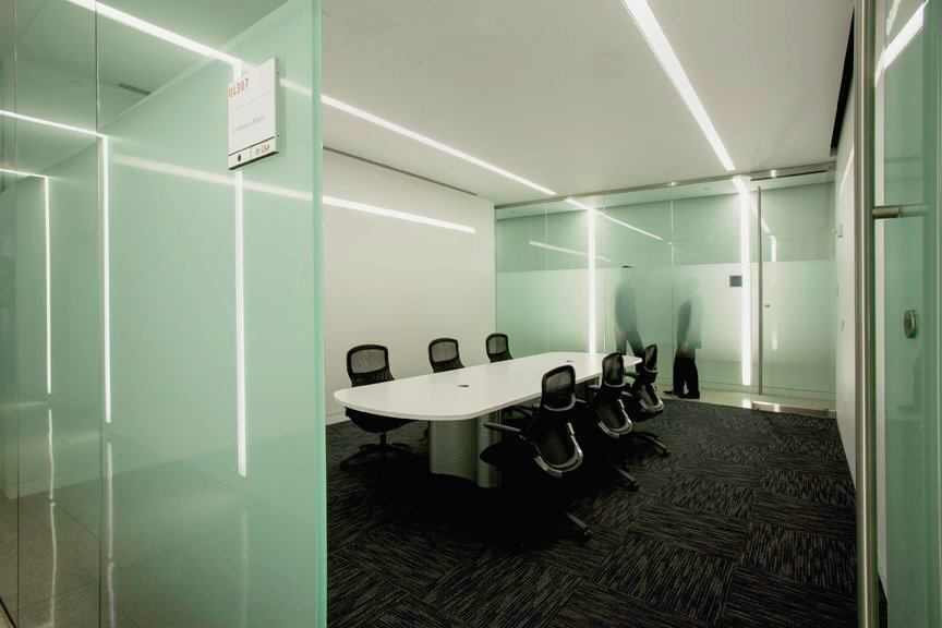 A conference room.