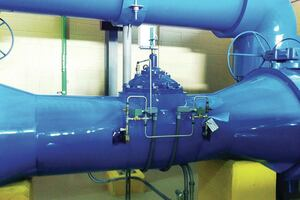 Actuated control valve eliminates cavitation damage at pump station