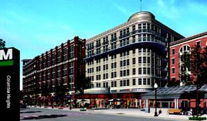 SMOOTH BLEND: Kenyon Square mixes local architectural styles, including large glass panes for sweeping views.