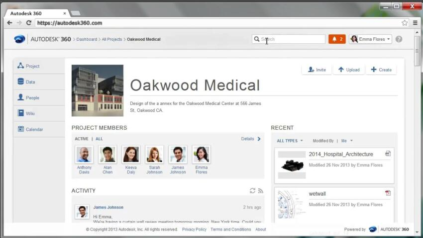 The forthcoming interface of the cloud-based Autodesk 360 platform.