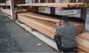 Figure 4. Hand-picking western red cedar at the lumberyard made it possible to build a furniture-grade guardrail.