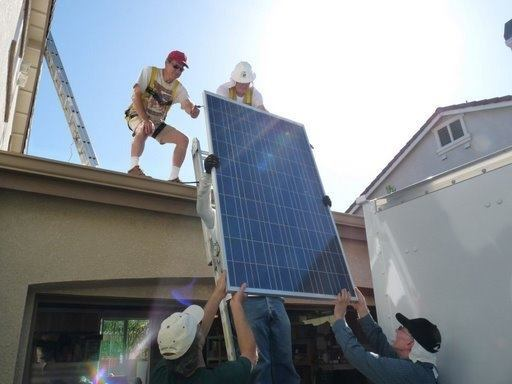 In May, volunteers installed one of the first solar PV systems under the new SASH solar incentive program for a Pleasanton, Calif., homeowner. This system will help the family save over $750 on their annual electric bills.