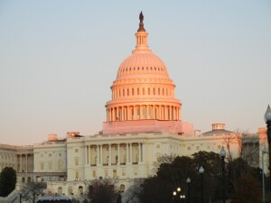 U.S. Capitol at Sunset
