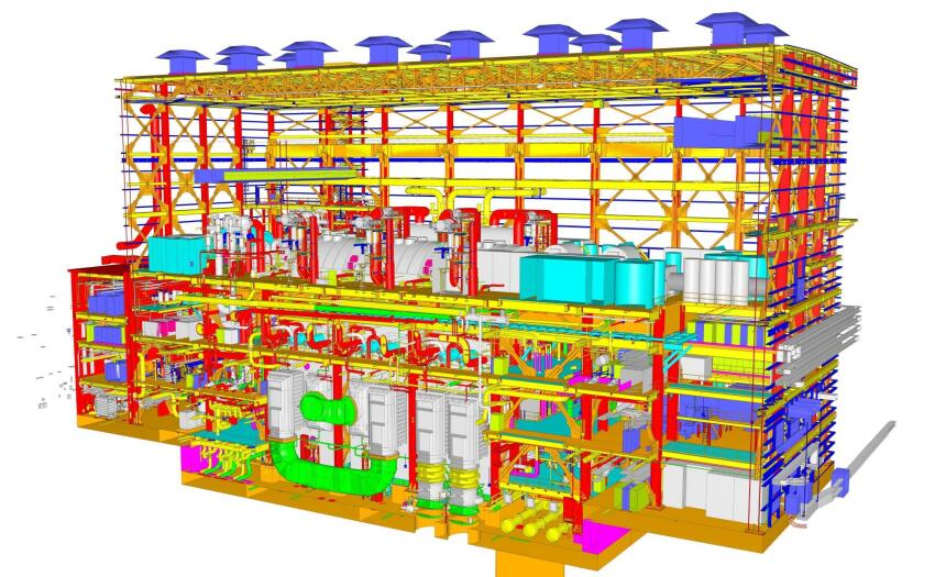 Winner, Innovation in Collaboration Using i-models: AP1000 Nuclear Power Plant i-models, in Jenkinsville, S.C., and Waynesboro, Ga., by CB&I Power