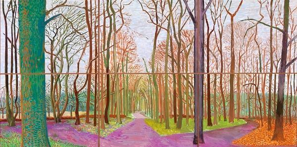 """Woldgate Woods, 30 March - 21 April"" by David Hockney"