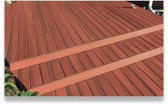 Figure 6. Universal Forest Products' Latitudes Capricorn decking is made with a co-extrusion process that's said to completely encase the wood fibers in plastic, making for a high resistance to stains.