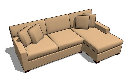 3D Warehouse sofa