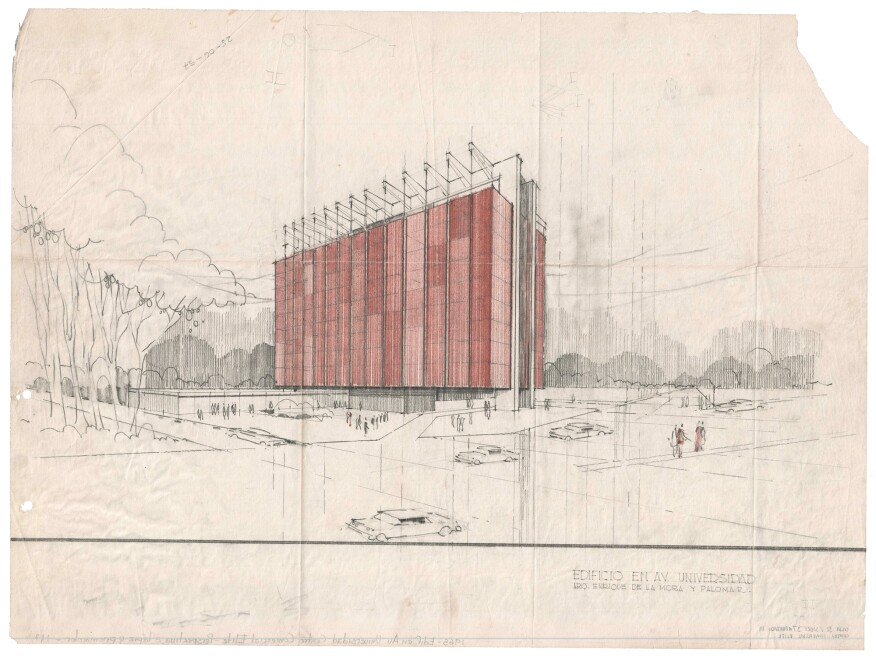 Perspective of the Elite building, Mexico City, 1958-59