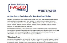 eGuide: Proper Techniques for Slate Roof Installation