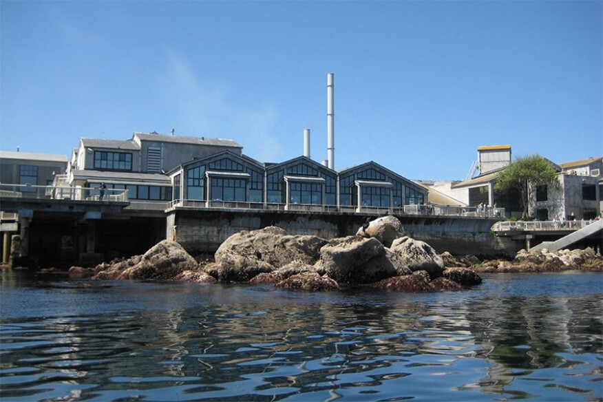 View of the aquarium from the Pacific Ocean