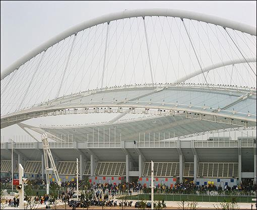 Athens Olympic Sports Complex for the 2004 Olympics, by Santiago Calatrava.