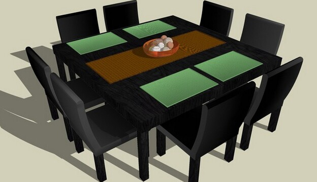 3D Warehouse dining table