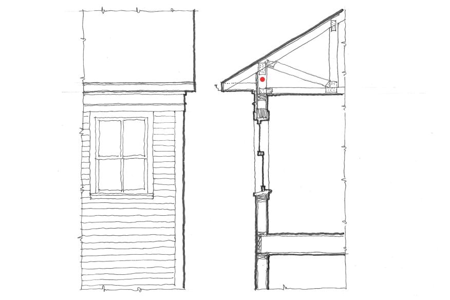"Where stick-built roofs aren't desired, a ""raised-heel"" truss can add some room for a proper frieze. Although a bit more expensive than a conventional truss, it allows a proportion that most people prefer, even if they're not aware of it."