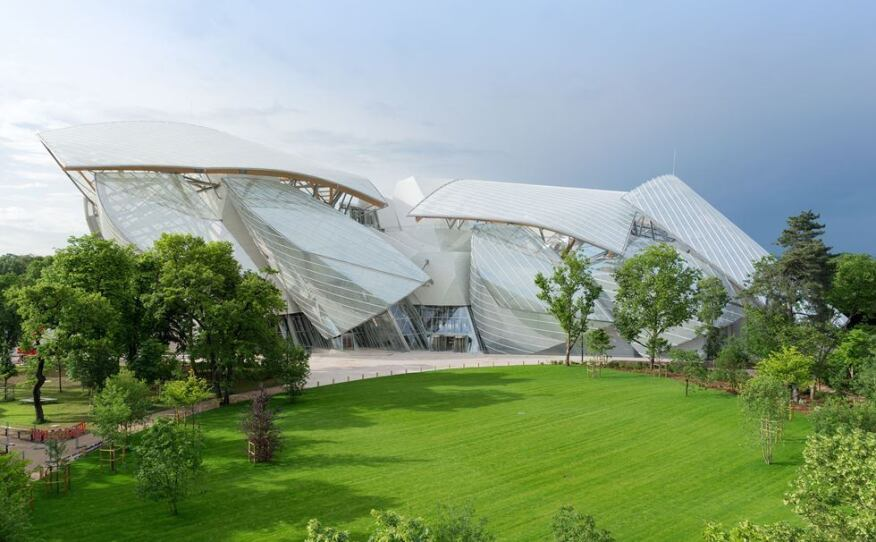 Fondation Louis Vuitton, designed by Gehry Partners, in Paris.