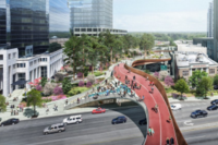 Firms Envision A Park Suspended Over a Highway