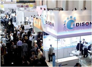 A view of the trade-show floor at Lightfair 2011.