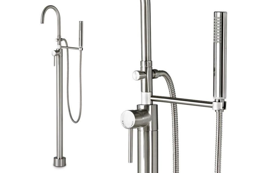 Contemporary Floor-Mount Tub Filler by Jado