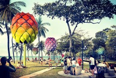Beach Huts Made From Garbage for Singapore
