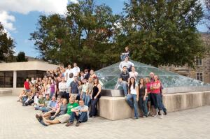 Virginia Tech architecture students on campus.