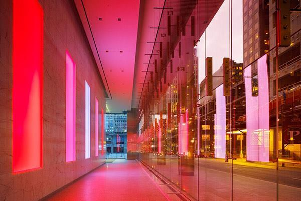 The Bay Adelaide Center in Toronto, Ontario Canada by WZMH Architects.