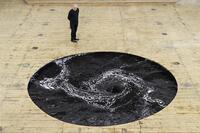 Anish Kapoor's Infinite Black Whirlpool at Italy's Galleria Continua