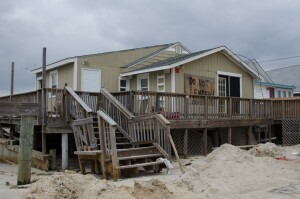 Cape May Court House, NJ, 11/2/12 -- Houses in Reeds Beach suffered severe damage during Hurricane Sandy. Photo by LIz Roll/FEMA