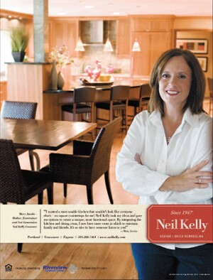 This advertisement, by Neil Kelly Designers/Remodelers, illustrates how some remodelers are targeting female consumers.