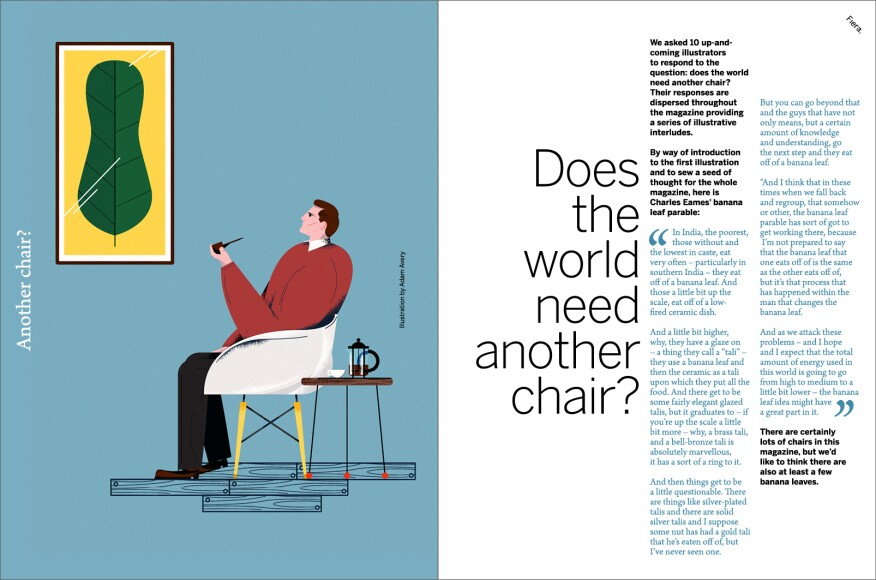 """Another Chair?"" in Issue 02."