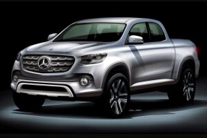According to Car and Driver, the midsize Mercedes pickup will take the name GLT and be based on a Nissan sold as the Navarra in Asia and the Frontier in the Americas.