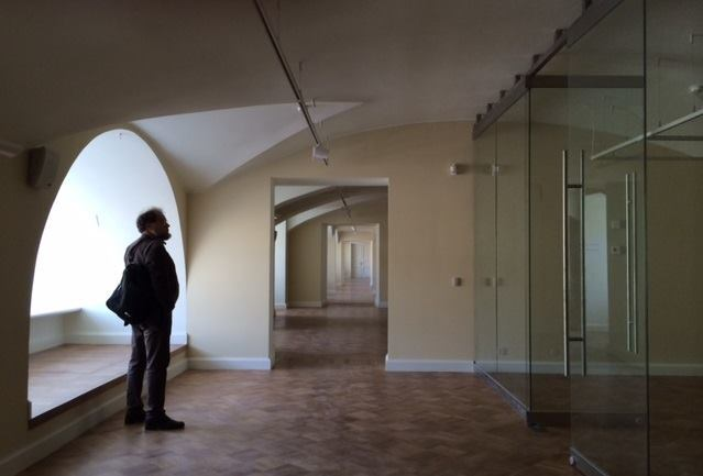 The ground floor, which will house decorative arts.