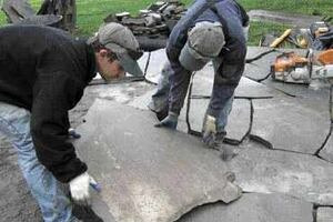 Laying a Flagstone Terrace