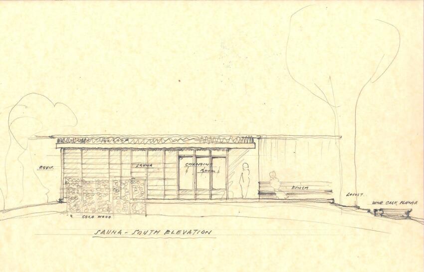 South elevation sketch.