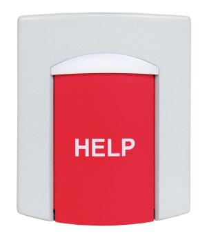 """The easy-to-read """"help"""" button on Linear's DXS-65 speaks for itself. The water-resistant supervised emergency alarm transmitter has a snap-on mounting bracket, allowing it to be installed in the home, or as a silent alarm activator in an office or store. The 2.5-inch-wide unit uses two lithium batteries and has a supervisory status timer that checks battery life.  linearcorp.com"""