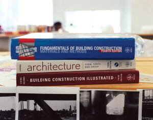 R.R. Bowker collects data on which books architecture students are required to read, using numbers from the Carnegie Foundation for the Advancement of Teaching and its own research.