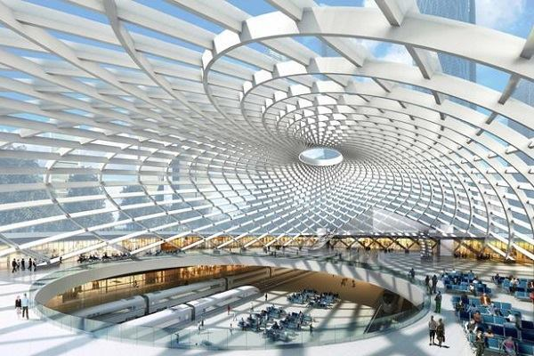 The Tianjin Tanggu Transportation Hub in Tianjin, China.