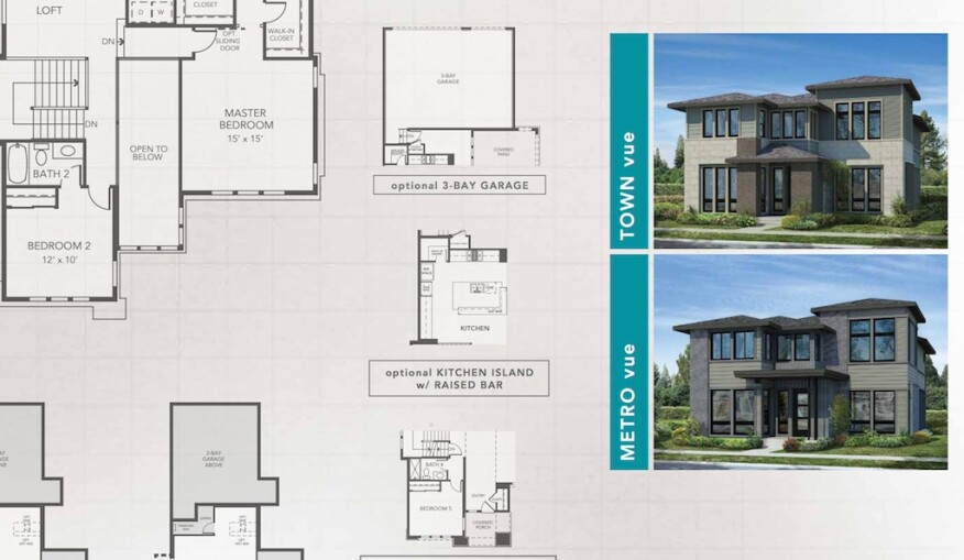 Denver's Stapleton features Infinity Home Collection single-family Vue models from Woodley Architectural Group.