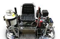Propane-powered ride-on polishing machine