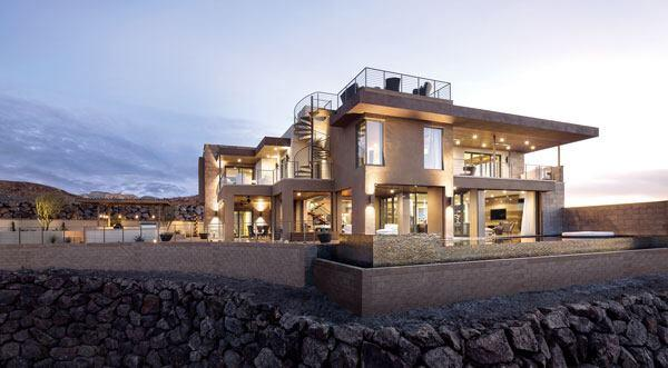 The 2014 New American Home,designed for IBS by Aspen, Colo.-based Jeffrey Berkus Architects.