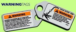 The identification tag includes vital information, including the grade of chain, the nominal chain size, the number of chain legs, and the rated loads for the sling assembly. Always look for proper and clear identification, especially the working load limit.