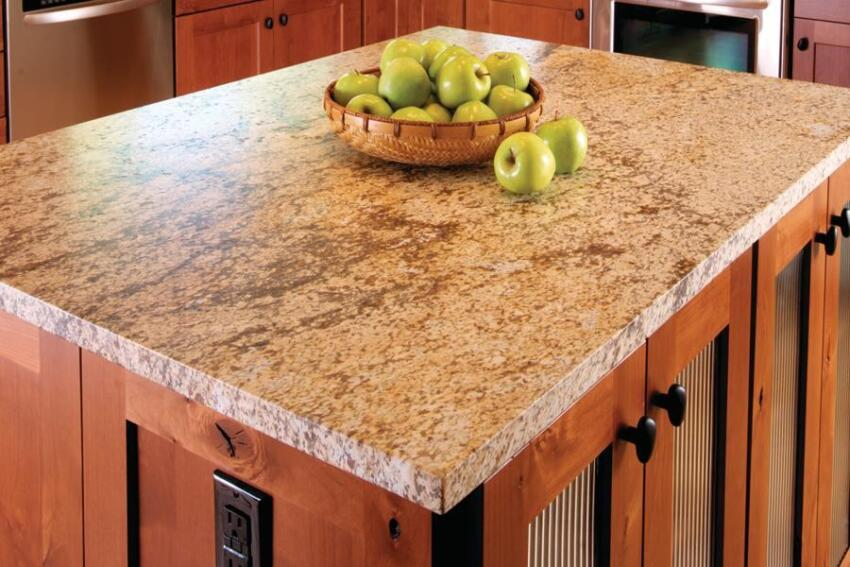 Granite with a leathered finish is a go-to product for Comito Building and Design