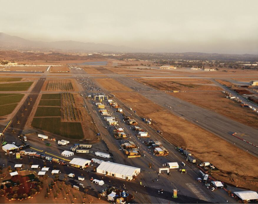 An aerial of the decathlon site in Irvine, Calif., located at the former Marine Corps Air Station El Toro, and now part of Orange County Great Park.