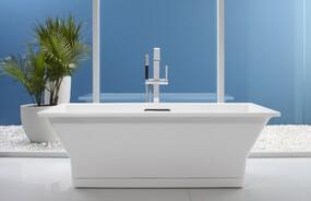 "Rêve® 67"" x 32"" Freestanding bath with Brilliant Blanc Base"