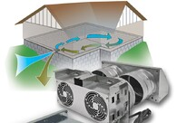 Improve IAQ, meet ventilation requirements Cure Damp-Musty Basements / Cellars