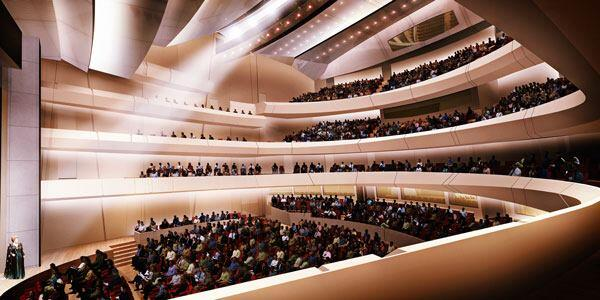 A rendering of the main performance space.